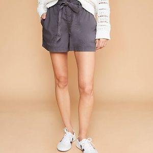 LOFT Women's NWT Poplin Tie Waist Shorts